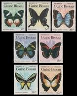 Guinea-Bissau 1984 - Mi-Nr. 811-817 ** - MNH - Schmetterlinge / Butterfly - Guinea-Bissau