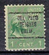 USA Precancel Vorausentwertung Preo, Locals California, Del Paso Heights 707 - Vorausentwertungen