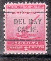USA Precancel Vorausentwertung Preo, Locals California, Del Rey 703 - Vorausentwertungen