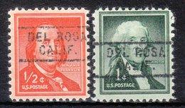 USA Precancel Vorausentwertung Preo, Locals California, Del Rosa 729, 2 Diff. - Vorausentwertungen