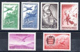 MONACO - YT PA N° 2 à 7 - Neufs ** - MNH - Cote: 16,00 € - Poste Aérienne