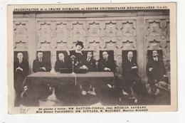 INAUGURATION DE LA CHAIRE ROUMAINE AU CENTRE UNIVERSITAIRE MEDITERRANEEN (7/1/37) - Evènements