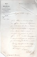 Lettre De Monsieur DOL  Maire De MONTMEYAN Au Maire De TAVERNES.1856. - Documents Historiques