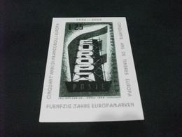 CARTOLINA POSTALE RIPRODUZIONE FRANCOBOLLO EUROPA  50° ANNI DI FRANCOBOLLI EUROPA 2006 MONTECATINI TERME - Timbres (représentations)