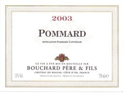 Etiket Etiquette - Vin - Wijn - Bourgogne - Pommard - Bouchard Père & Fils - 2003 - Bourgogne