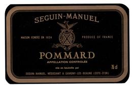 Etiket Etiquette - Vin - Wijn - Bourgogne - Pommard - Seguin Manuel - Bourgogne