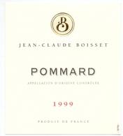 Etiket Etiquette - Vin - Wijn - Bourgogne - Pommard - Jean Claude Boisset - 1999 - Bourgogne