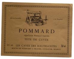 Etiket Etiquette - Vin - Wijn - Bourgogne - Pommard - Les Caves Des Hautes Cotes - Bourgogne