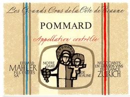 Etiket Etiquette - Vin - Wijn - Bourgogne - Pommard - Eduard Mahler - Bourgogne