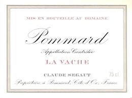 Etiket Etiquette - Vin - Wijn - Bourgogne - Pommard - La Vache - Claude Segaut - Bourgogne