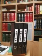 COLLECTION TIMBRES NOUVELLES MNH DE SUISSE ANNÉES 1975 À 2018 COMPLETES MONTÉE DANS 3 ARCHIVERS AVEC BANDES HAWID - Collections (en Albums)