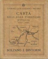 CG 9 - CARTA DELLE ZONE TURISTICHE - BOLZANO E DINTORNI - Cartes Géographiques