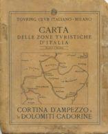 CG 11 - CARTA DELLE ZONE TURISTICHE - CORTINA D'AMPEZZO E LE DOLOMITICADORINE - Cartes Géographiques