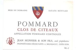 Etiket Etiquette - Vin - Wijn - Bourgogne - Pommard - Clos De Citeaux - Bourgogne