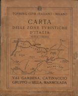 CG 29 - CARTA DELLE ZONE TURISTICHE - VAL GARDENA CATINACCIO GRUPPO DI SELLA MARMOLADA - Cartes Géographiques