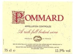 Etiket Etiquette - Vin - Wijn - Bourgogne - Pommard - Henry Bachey - Aloxe Corton - Bourgogne