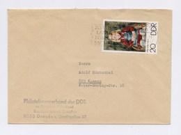 MWSt - DRESDEN, 25 Jahre Landesbühnen Sachsen 1971, MiNr. 1608 Auf Umschlag - DDR