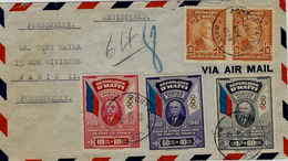 1939- Enveloppe RECC. Par Avion Affr.  Y & T N°277, 12 Ae Et 13 Ae - AFFR. EXCEPTIONNEL - Haïti