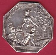 France - Louis XVIII - Compagnie Générale D'Assurance - Paris 1818 - Argent - Profesionales / De Sociedad