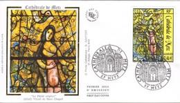 FRANCE 3498 FDC Premier Jour Vitrail Cathédrale METZ De Marc CHAGALL : Le Péche Originel - FDC