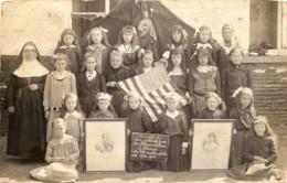 Belgique - Carte-Photo - Avelgem - Bossuyt - Gratitude From The Belgian Children Of Bossuyt 1918 - Avelgem