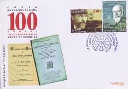Armenia 2013 FDC 100th Anniversary Of Genocide Johannes Lepsius James Bryce - Arménie