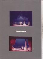 5 PHOTOS SUR 2 CARTONS SEMI SOUPLES, ACTEURS JOUANT THAIS  , THATRE DES ARTS A ROUEN En 1967 - Photos
