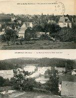 Lot De 2 CPA - LA GACILLY - Vue Prise De La Route De Redon - Le Bout Du Pont Et La Grée St Jean - La Gacilly