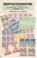 Facture 1/2 Format / 58 COSNE / ROTATICKETS / Imprimerie Spécialisée  Timbres Et Tickets - France