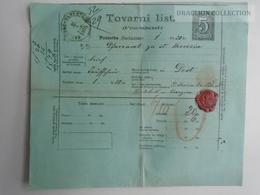 ZA159.13 Tovarni List Frachtbrief Lettre De Voiture Spedition - KARLOVAC KARLSTADT CROATIA HRVATSKA 1875 - Croatia