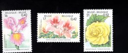 701458105 BELGIE POSTFRIS MINT NEVER HINGED POSTFRISCH EINWANDFREI  OCB 2903 2904 2905 FLORALIEN - Unused Stamps