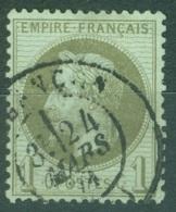 France  25    Ob  TB    Cad  Besancon - 1863-1870 Napoléon III. Laure
