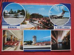 Ljubljana / Laibach - Mehrbildkarte Letališče Brnik / Flughafen, Airport - Slowenien