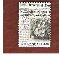 DANIMARCA (DENMARK)  -   SG 1212   -  2000  THE 20^ CENTURY: NEWSPAPER    - USED ° - Usati