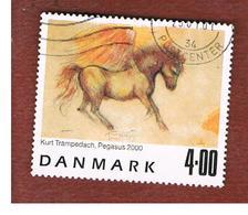 DANIMARCA (DENMARK)  -   SG 1219   -  2000  PAINTINGS: PEGASUS  - USED ° - Danimarca