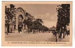 +2374 ,  Feldpostkarte, Frankreich, Avenue Gambetta, Laon - Guerre 1914-18