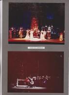 5 PHOTOS SUR 3  CARTONS SEMI SOUPLES, ACTEURS JOUANT LUCIA DE.LAMMERMOOR,  ,   , THATRE DES ARTS A ROUEN En 1967 - Photographs