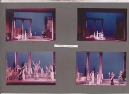 4 PHOTOS SUR 1  CARTON SEMI SOUPLE , ACTEURS JOUANT  PHI PHI,  ,   , THATRE DES ARTS A ROUEN En 1967 - Photographs