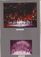 2 PHOTOS SUR 1  CARTON SEMI SOUPLE , ACTEURS JOUANT  RHAPSODY IN BLUE,  ,   , THATRE DES ARTS A ROUEN En 1967 - Photographs