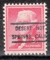 USA Precancel Vorausentwertung Preo, Locals California, Desert Hot Springs 808 - Vorausentwertungen