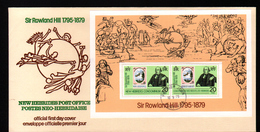 New, Nouvelles Hebrides,Sir Rowland Hill, 1795-1879 - FDC