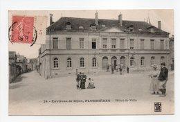 - CPA PLOMBIÈRES (21) - Hôtel-de-Ville 1906 (avec Personnages) - N° 24 - - Sonstige Gemeinden