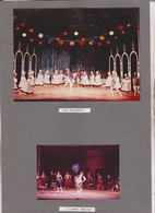 2 PHOTOS SUR 1  CARTON SEMI SOUPLE , ACTEURS JOUANT   LES PATINEURS Et L AMOUR S,  ,   , THATRE DES ARTS A ROUEN En 1967 - Photographs