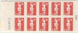 FRANCIA - Marianna Del Bicentenario 2,50 Rosso - Carnets