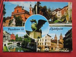 """Ljubljana / Laibach - Mehrbildkarte """"Pozdrav Iz Ljubljane"""" / Grazer Herbstmesse 1972 - Slowenien"""