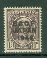Australia - BCOF: 1946/47   Pictorial 'B.C.O.F. Japan 1946' OVPT  SG J2   1d     MH - Japan (BCOF)
