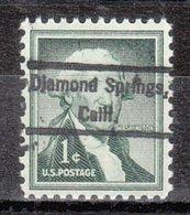 USA Precancel Vorausentwertung Preo, Locals California, Diemond Springs 809 - Vorausentwertungen