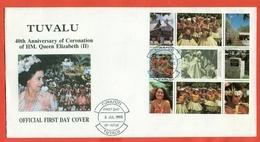 TUVALU - FDC - REGINA ELISABETTA- 1993 - Tuvalu