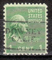 USA Precancel Vorausentwertung Preo, Locals California, Downey 701 - Préoblitérés