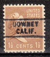 USA Precancel Vorausentwertung Preo, Locals California, Downey 729 - Préoblitérés